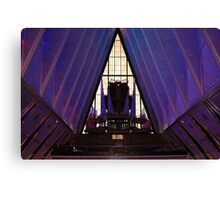 air force academy chapel interior Canvas Print