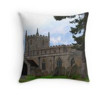 St Mays Church Woodnewton Throw Pillow