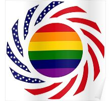 No H8 American Flag Poster