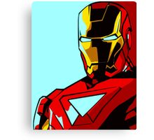 The Avengers - Iron Man Pop Art Comic Canvas Print