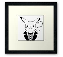 Pikachu in Tuxedo Framed Print
