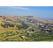 Agrigento farms, Sicily Photographic Print