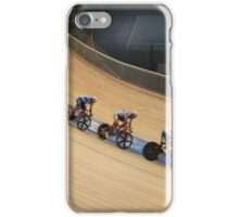 bicycle race at racetrack tilt  shot iPhone Case/Skin