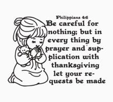 PHILIPPIANS 4:6 - BE NOT ANXIOUS Kids Clothes
