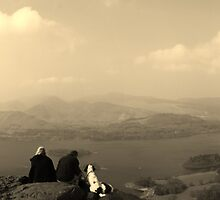 Keswick and Derwent Water from Walla Crag by MrEych