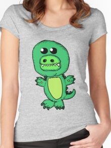 Cute Alligator Women's Fitted Scoop T-Shirt