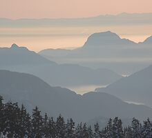 Howe Sound from Diamond Head, British Columbia , Canada by Christopher Barton