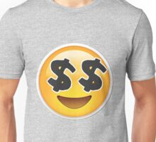 Money Eyes Emoji Unisex T-Shirt
