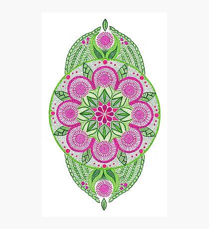 Flower Mandala Photographic Print