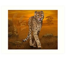 Cheetah In Africa Art Print