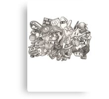 Super Mario Mashup Canvas Print