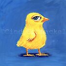 Suspicious Chick by Cindy Schnackel