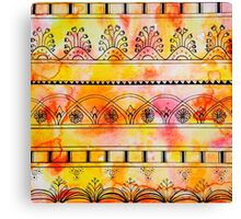 Pattern Play, Red and Yellow Canvas Print