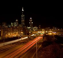 Chicago Skyline at night by Sven Brogren