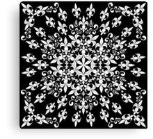 roue de lys (version blanc) Canvas Print