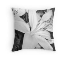 side view of lily Throw Pillow
