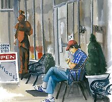 Sidewalk Reader by Anthony Billings