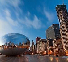 Chicago's cloud gate at dawn by Sven Brogren