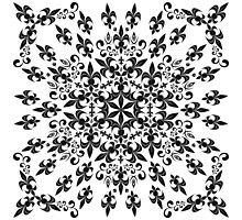 roue de lys (version noir) Photographic Print