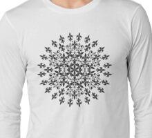 roue de lys (version noir) Long Sleeve T-Shirt