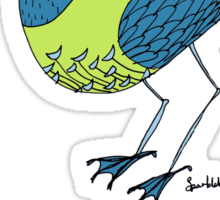 Final words from a bird with unkown origins Sticker