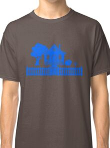 Cottage w/ Picket Fence (Blue design) Classic T-Shirt