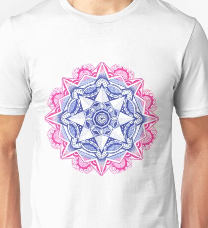 Pink & Blue Mandala Unisex T-Shirt