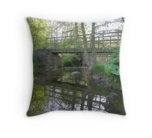 The Bridge Down Stop Bridge Lane Throw Pillow