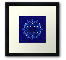 roue de lys (version bleu) Framed Print