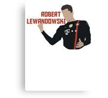 Robert Lewandowski - Minimalistic Print Canvas Print
