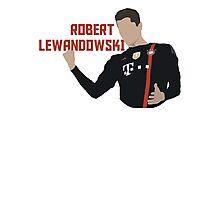 Robert Lewandowski - Minimalistic Print Photographic Print