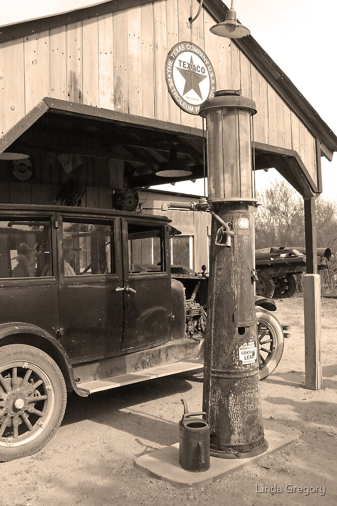 Old Gas Pump by Linda Gregory