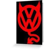 VW DEVIL LOGO Greeting Card