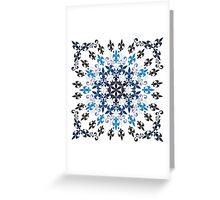 roue de lys (version bleu en blanc) Greeting Card