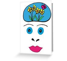 Butterfly Brains Greeting Card