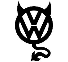 VW DEVIL LOGO Photographic Print