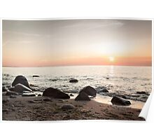 sunset at sea Poster