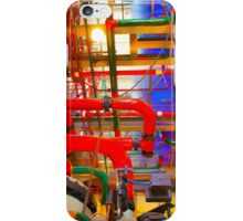 red and blue veins iPhone Case/Skin