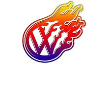 VW Flame Logo Photographic Print