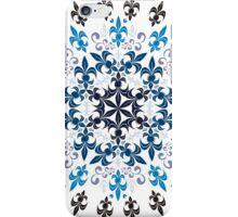 roue de lys (version bleu en blanc) iPhone Case/Skin