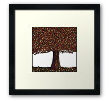 Tree Orange Framed Print