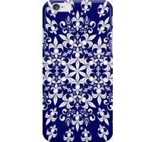 roue de lys (version blanc en bleu) iPhone Case/Skin