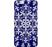 roue de lys (version blanc en bleu) iPhone Case/Skin