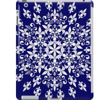 roue de lys (version blanc en bleu) iPad Case/Skin