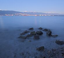 dusk, English Bay , British Columbia , Canada by Christopher Barton