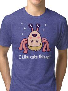I Like Cute Things! Tri-blend T-Shirt