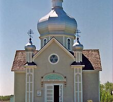 St. Vladimir's Ukrainian Greek Orthodox Church, near Edmonton, Alberta, Canada  by Adrian Paul