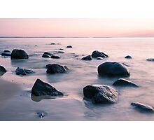 sunset at sea Photographic Print