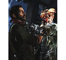 The Las of Us - Joel and a Clicker FIghting  Photographic Print