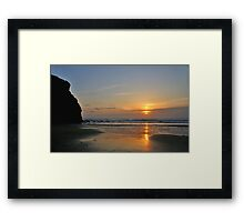 Porthtowan Sunset Framed Print